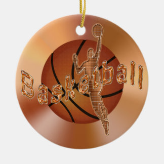 Basketball Ornaments. Vintage Basketball & Player
