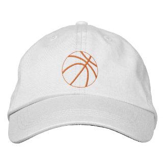 Basketball Outline Embroidered Baseball Hat