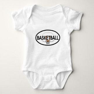 Basketball Oval Baby Bodysuit
