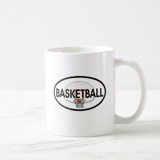 Basketball Oval Classic White Coffee Mug