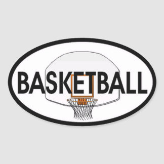 Basketball Oval Oval Sticker