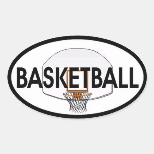 Basketball Oval Oval Sticker