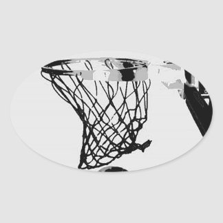 Basketball Oval Sticker