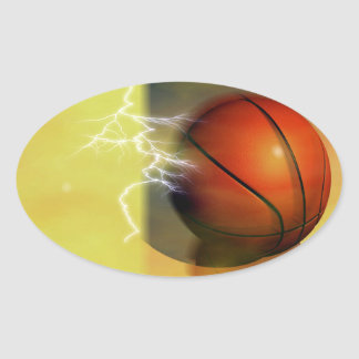 Basketball Oval Stickers