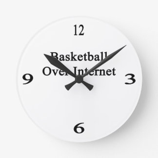 Basketball Over Internet Round Wallclock