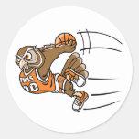 Basketball Owl Sticker