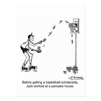 Basketball & Pancakes Postcard