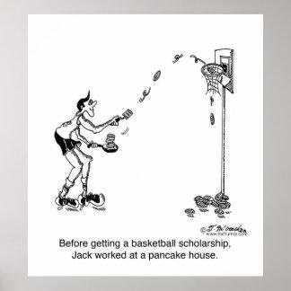 Basketball & Pancakes Posters