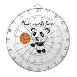 Basketball panda dart board