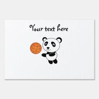 Basketball panda lawn signs