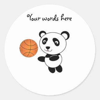 Basketball panda sticker