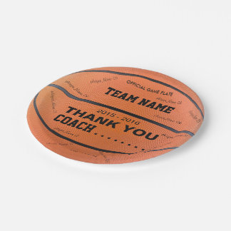 BASKETBALL PAPER PLATES Original bl