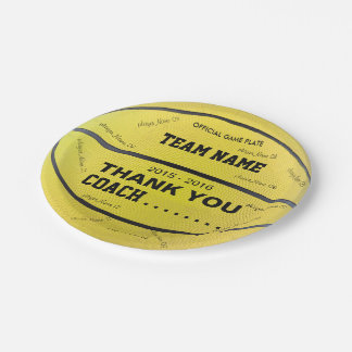 BASKETBALL PAPER PLATES Yellow Black bl yt Yellow