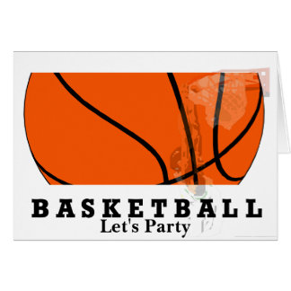 Basketball Party Card