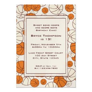 Basketball Party Invitation