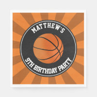 Basketball Party Paper Luncheon Napkins