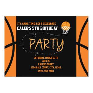 60 off basketball birthday invitations shop now to save zazzle basketball party typography birthday invitation filmwisefo