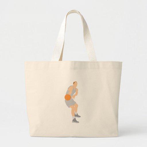 basketball pass vector graphic jumbo tote bag