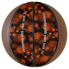 Basketball Pattern at Zazzle
