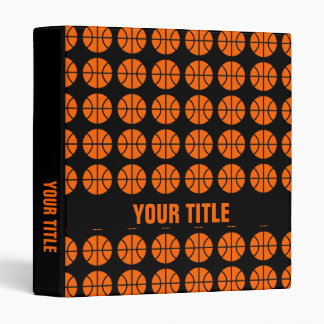 Basketball pattern vinyl binder