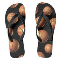 Basketball Pattern Flip Flop -Wide strap
