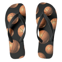 Basketball Pattern Flip Flop -Wide strap Flip Flops