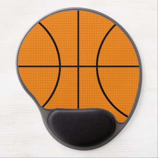Basketball pattern - gel mouse pad