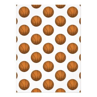 Basketball Pattern Invites