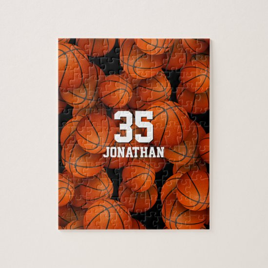 Basketball pattern jigsaw puzzle for boys or girls