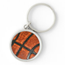 Basketball Pattern Keychain