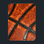 """Basketball Pattern Magnet<br><div class=""""desc"""">A cool basketball pattern for the sports fanatic!</div>"""