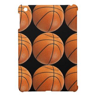 Basketball Pattern on Black iPad Mini Cases