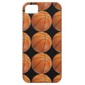 Basketball Pattern on Black iPhone 5 Cases