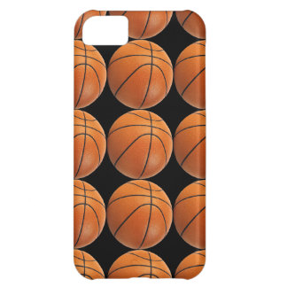 Basketball Pattern on Black iPhone 5C Cover