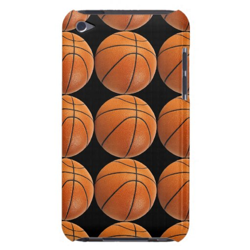 Basketball Pattern on Black iPod Touch Case-Mate Case