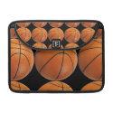 Basketball Pattern on Black Sleeve For MacBook Pro