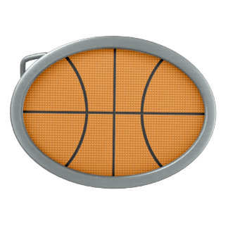 Basketball pattern - oval belt buckle