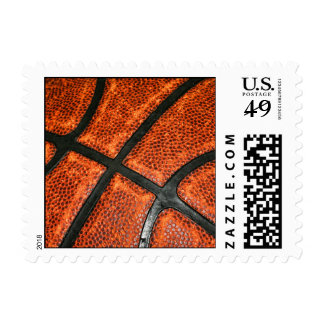 Basketball Pattern Postage Stamp