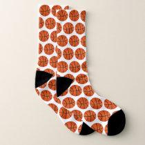 Basketball Pattern Socks