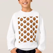 Basketball Pattern Sweatshirt
