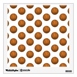 Basketball Pattern Wall Decal