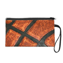 Basketball Pattern Wristlet