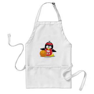 Basketball Penguin Adult Apron