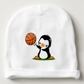 Basketball Penguin Baby Beanie
