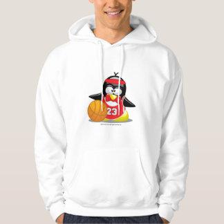 Basketball Penguin Hooded Pullover