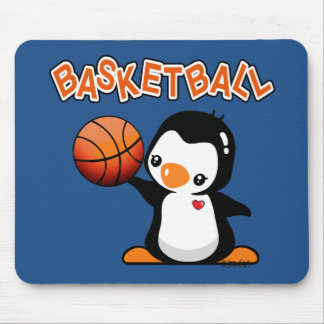 Basketball Penguin Mouse Pad