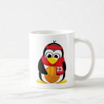 Basketball Penguin Scarf Coffee Mug