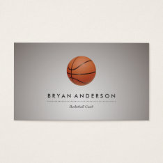 Basketball - Personal Business Card at Zazzle