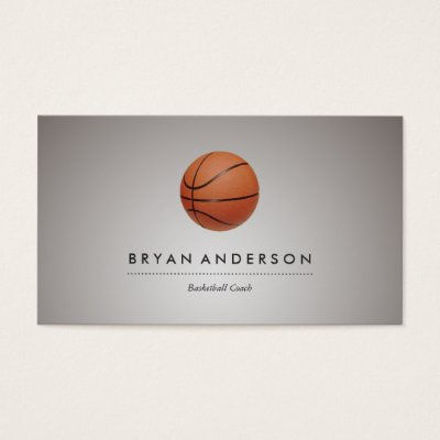 Basketball Business Card Zazzle Com