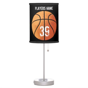 Basketball (personalizable) Desk Lamp by eBrushDesign at Zazzle